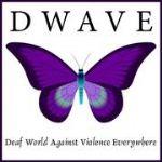 image of the logo for Deaf World Against Violence Everywhere  {Dwave}